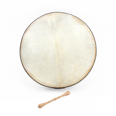 "Tunable bodhran with T-bar 18"" with stick and soft bag"