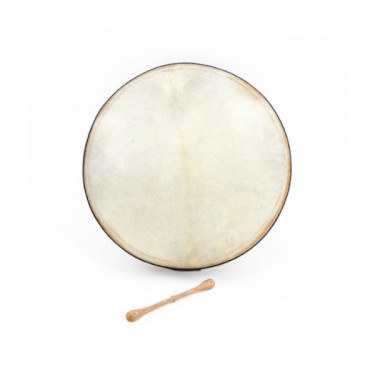 "Tunable bodhran with T-bar 16"" with stick and soft bag"