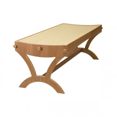 Table Monochord pour massage en cerisier