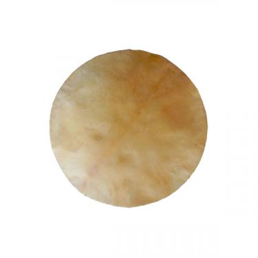 Peau de chèvre parcheminée ronde - Ø 80 cm