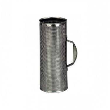 Guiro en métal spécial Merengue/cumbia + peigne métallique - Ø 9 cm x 30 cm
