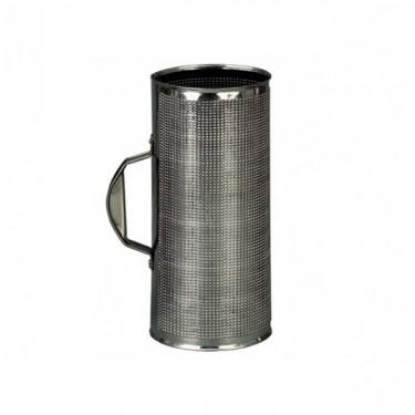 Guiro en métal spécial Merengue/cumbia + peigne métallique - Ø 11.5 cm x 30 cm