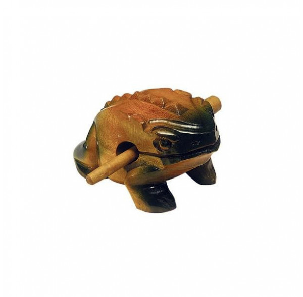 Frog woodblock/guiro 14 cm
