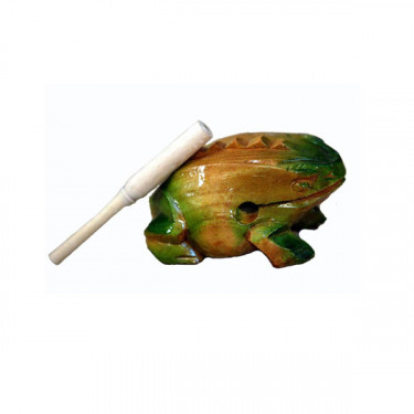 Guiro frog 10 cm - Wood