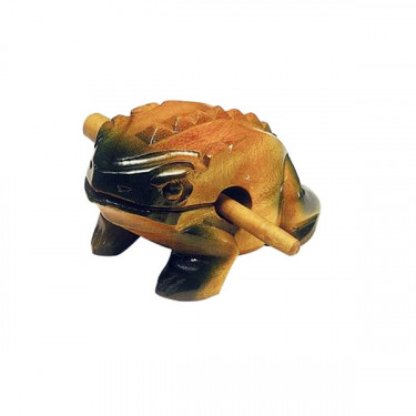 Grenouille Guïro en bois - 17 à 18 cm