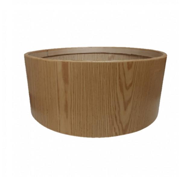 """Cadre Ash Wood pour tambour sur cadre (chamane) double peau 24"""" x 25 cm"""