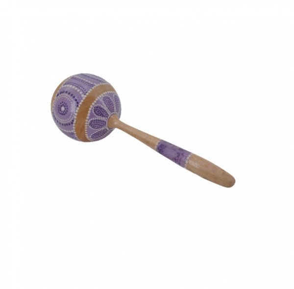 Painted wood maracas - 24 cm - Roots percussions