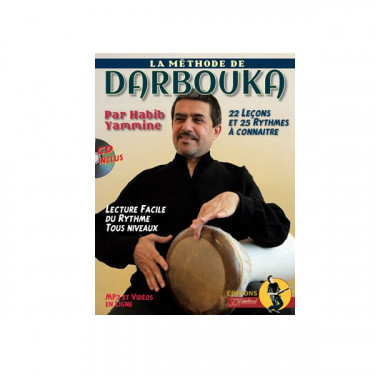 Derbouka methode by Habib Yammine in French - book + CD + online video