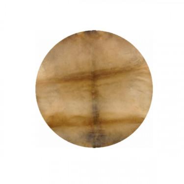 Horse skin cutted in big disc form