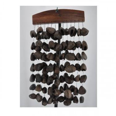 Carillon (Chimes) avec des graines de pangi - ROOTS