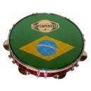 Pandeiro formica 10' - Contemporânea - drapeau Brésil