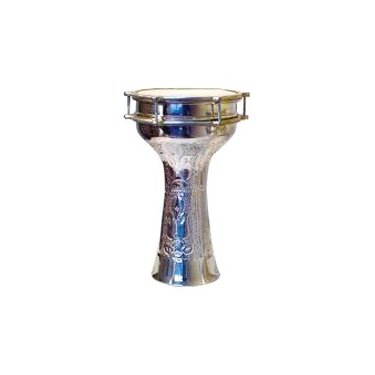 Derbouka aluminium 6 vis avec cymbalettes