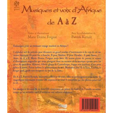 Musiques et voix d'Afrique - Livre + CD