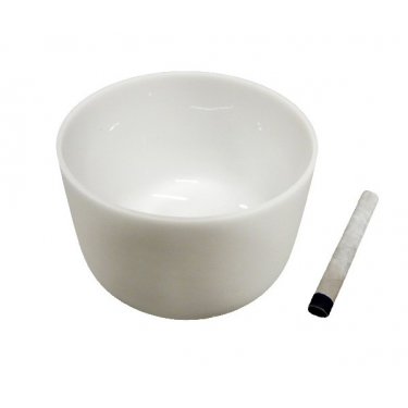 "Singing bowl 13"" - Frosted crystal"