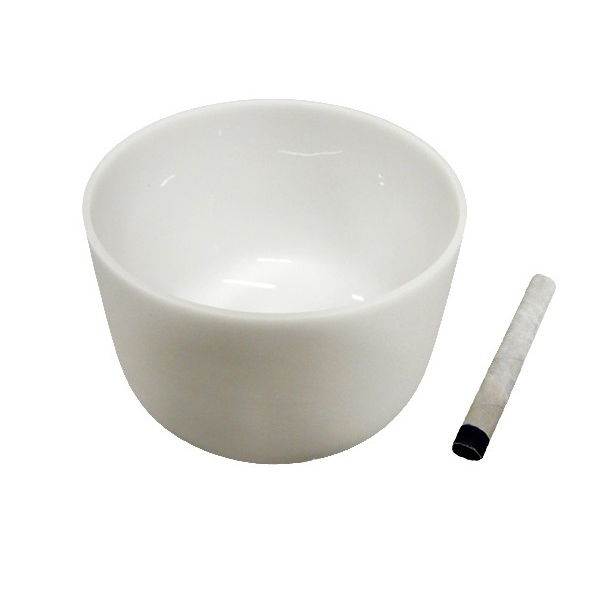 Singing bowl 13' - Frosted crystal
