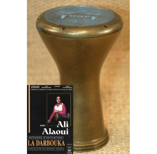 Darbuka set: professional darbuka + Ali Alaoui DVD method