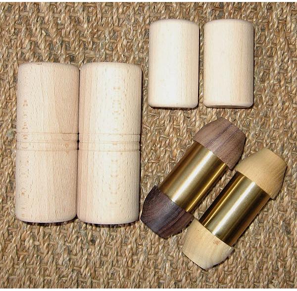 Shakers bois et métal - Lot de 6