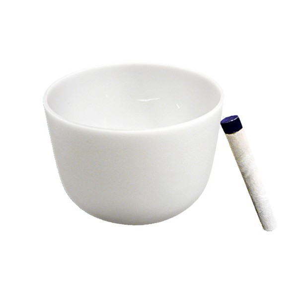 Singing bowl 11' - Frosted crystal