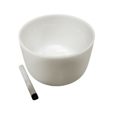 "Singing bowl 14"" - Frosted crystal"