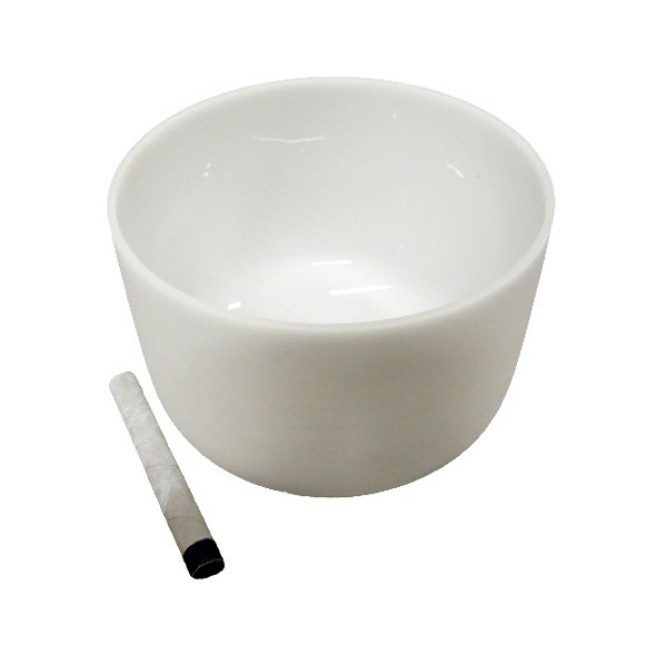 Singing bowl 14' - Frosted crystal
