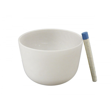 Singing bowl 9' - Frosted crystal