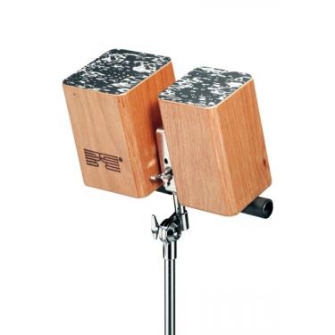 Cajon-bongos - wood - usable w/ stand - Schlagwerk