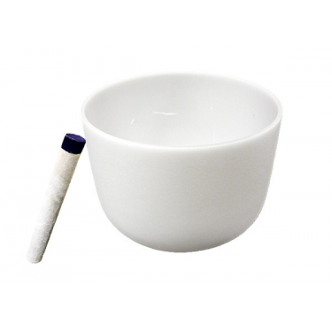 Singing bowl 12' - Frosted crystal