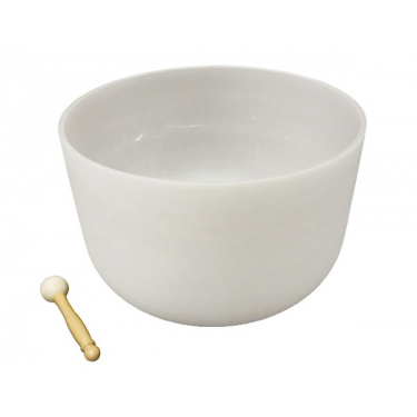 "Singing bowl 16"" - Frosted crystal"