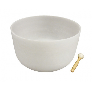 "Singing bowl 18"" - Frosted crystal"