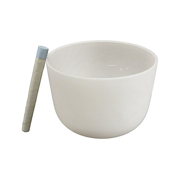 Singing bowl 10' - Frosted crystal