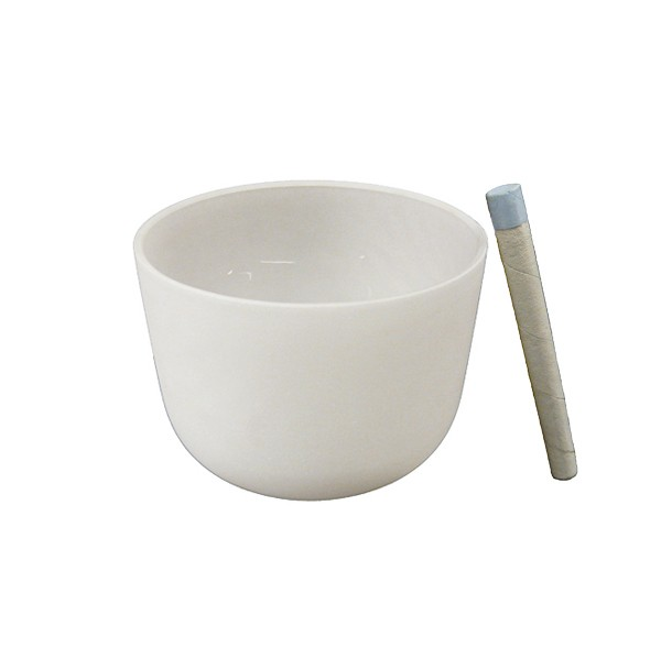 Singing bowl 7' - Frosted crystal