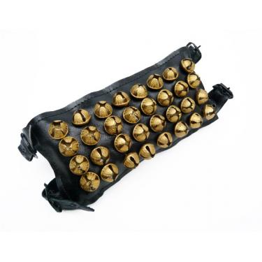 Bracelet de cheville (4 rangées sur cuir) - La paire