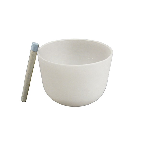 Singing bowl 8' - Frosted crystal