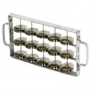 Rocar (chocalho) Contemporânea ligne pro - double - medium - aluminium