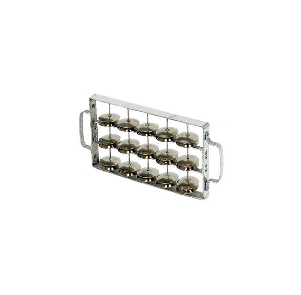 Rocar (chocalho) large frame, aluminium 30 pairs of jingles - Contemporânea