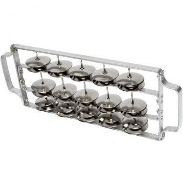Rocar (chocalho) small frame, aluminium 30 pairs of jingles - Contemporânea