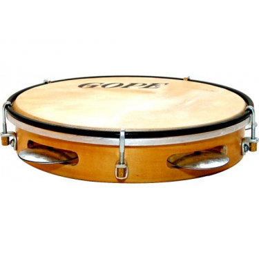"Pandeiro 10"" - Wood & natural skin - Gope"