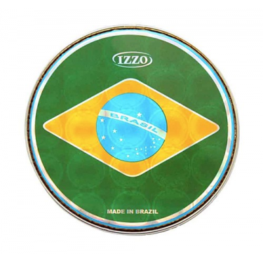 "Izzo 6"" to 12"" Brazil flag drum head - Izzo"