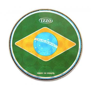 """Peau prismatique 6"""" à 12"""" - drapeau Brésil - Izzo"""