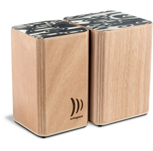 Cajon-bongos - wood - velcro - Schlagwerk