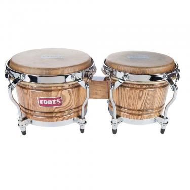 """Bongo 7' & 08"""" 1/2 cercles chromés classique """"Ashwood"""" Roots"""
