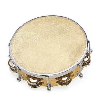 "Tambourin 8"" réglable avec 2 rangée de cymbalettes"