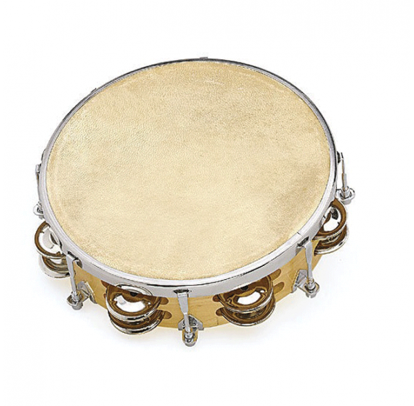 Tambourin 10' réglable peau naturelle