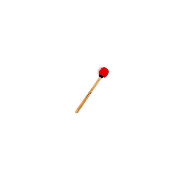Batte de surdo - manche bois - feutrine ovale dure - Segunda - 36 cm - Macapart