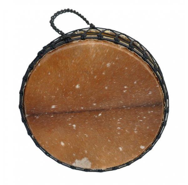 """Tambour gong 30"""" x 20 cm - Modèle double peau avec poils"""