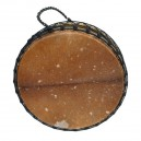 """Tambour gong 35"""" x 25 cm - Modèle double peau avec poils"""