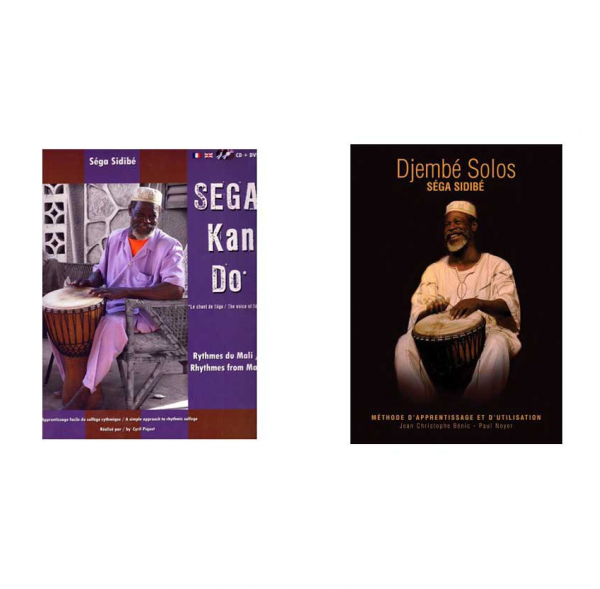 Pack Séga Sidibé - Percussions Africaines - 2 méthodes Livres/CD/DVD