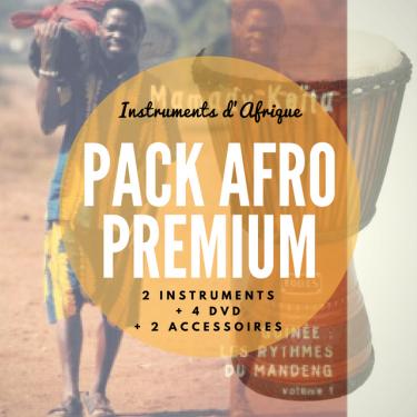 Pack Djembé + Crécelle + 4 DVD + Housse + Harnais