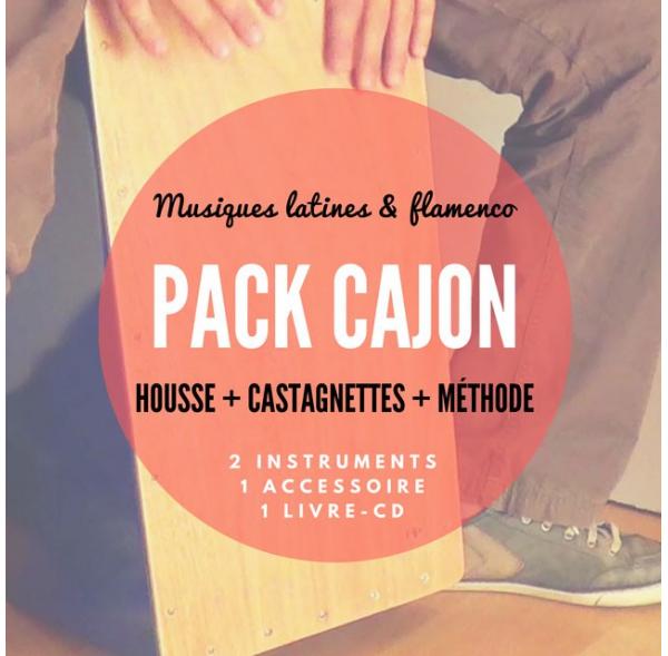 Pack Cajon + Castagnettes + Housse Pro + Méthode