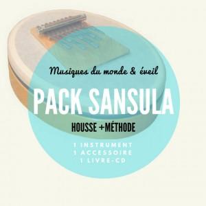 Pack Sansula La Mineur + Méthode + Housse